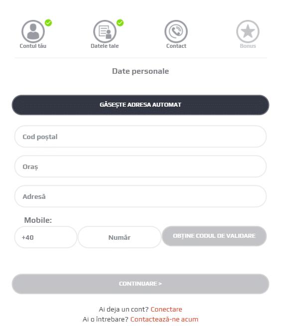 Formular Creare Cont Netbet Date De Contact