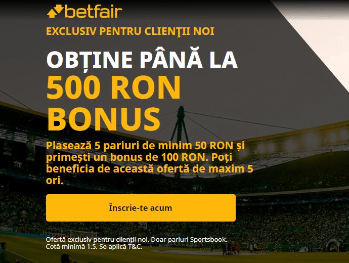 Bonus Betfair Pariuri