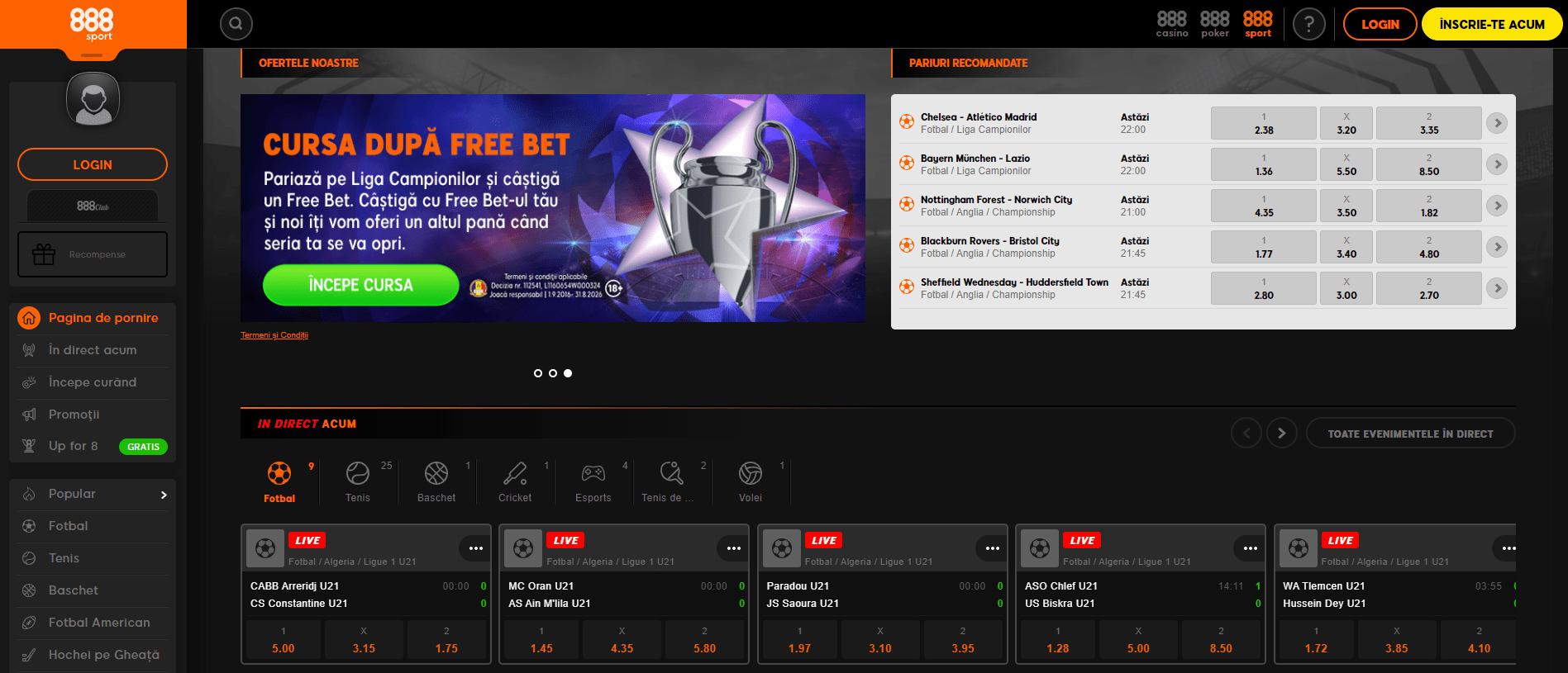 oferta pariuri 888 sport