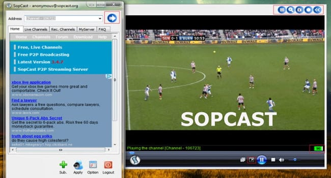 Meciuri online gratis prin SopCast
